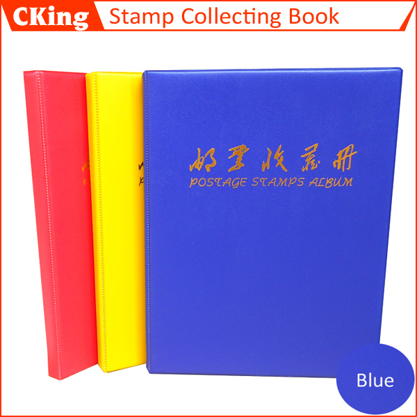 HOT1 PCS Hot PU Stamp Album Multi Color Interleaf Type Stamps Collecting Book With Red Blue Yellow Wholesale Factory Price In Photo Albums From Home