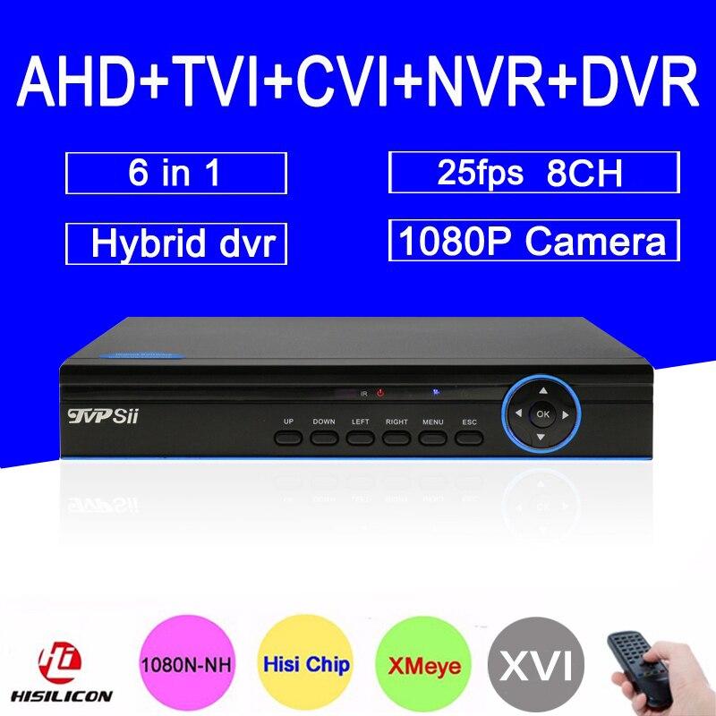 1080 P CCTV камера Xmeye Буле панель HI3521A 25fps 8 каналов 8CH 1080N коаксиальный Гибридный Wi Fi Onvif NVR TVI CVI AHD DVR Бесплатная доставка