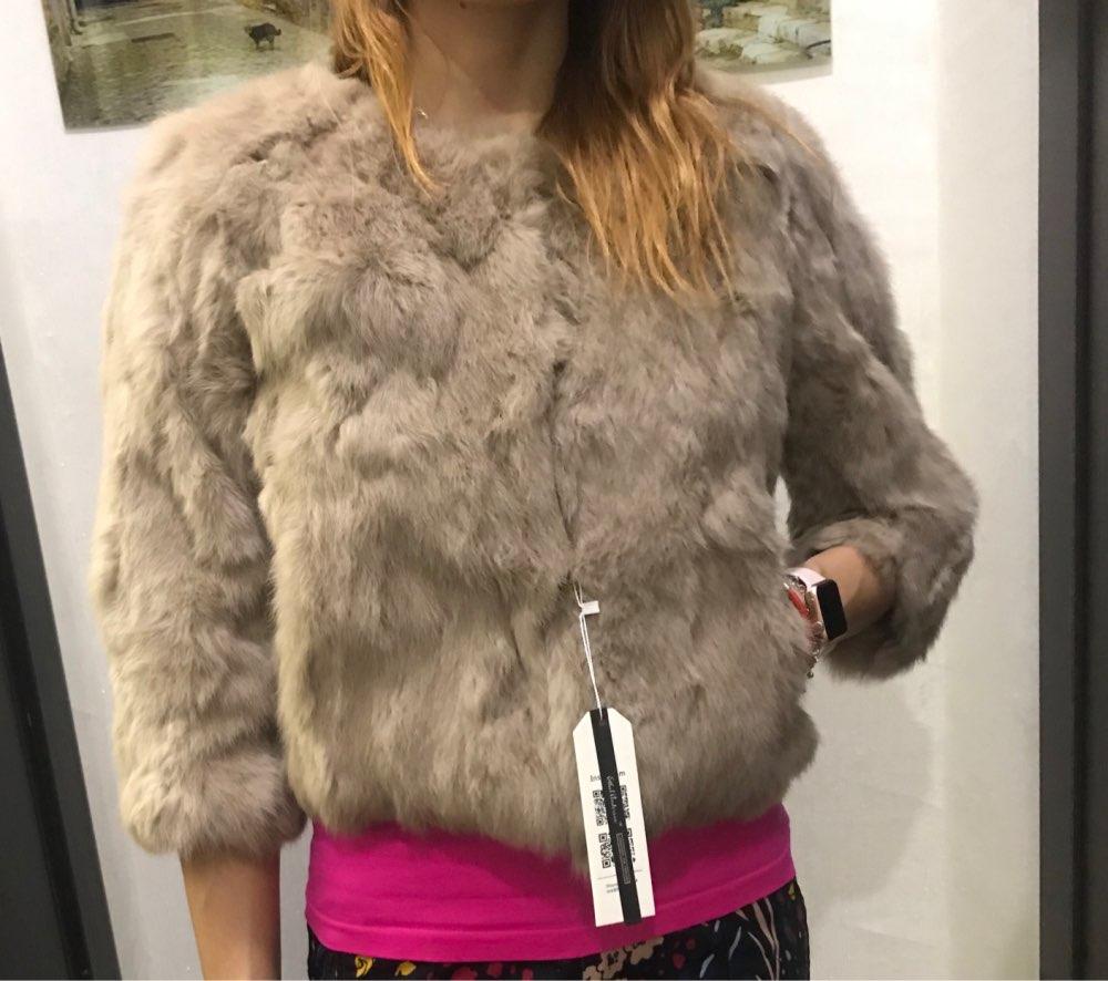 ETHEL ANDERSON 100 Real Rabbit Fur Women s Real Rabbit Fur Coat Jacket Outwear Beauty Purple ETHEL ANDERSON 100% Real Rabbit Fur Women's Real Rabbit Fur Coat/Jacket Outwear Beauty Purple Color XXXL Size Coat