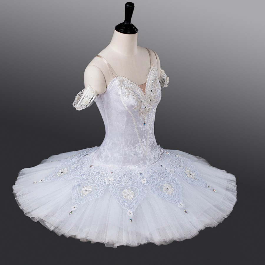 Fltoture Woman White Professional Ballet Tutu Snow White Stage Wear Ballerina Birthday Gift ATS9011 Girls Ballet Nutcracker