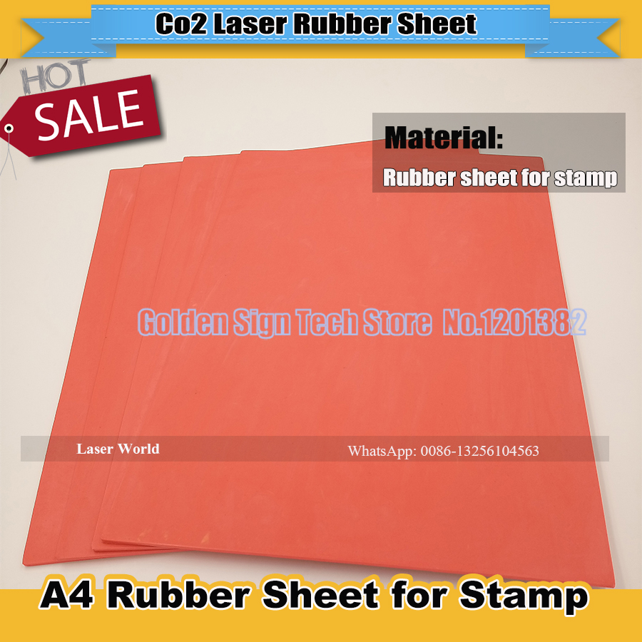 1pcs Red  Laser Rubber Sheet/ Rubber Laser Engraving  Sheet 297*210*2.3mm  With Environmental Protection For Stamp  High Quality