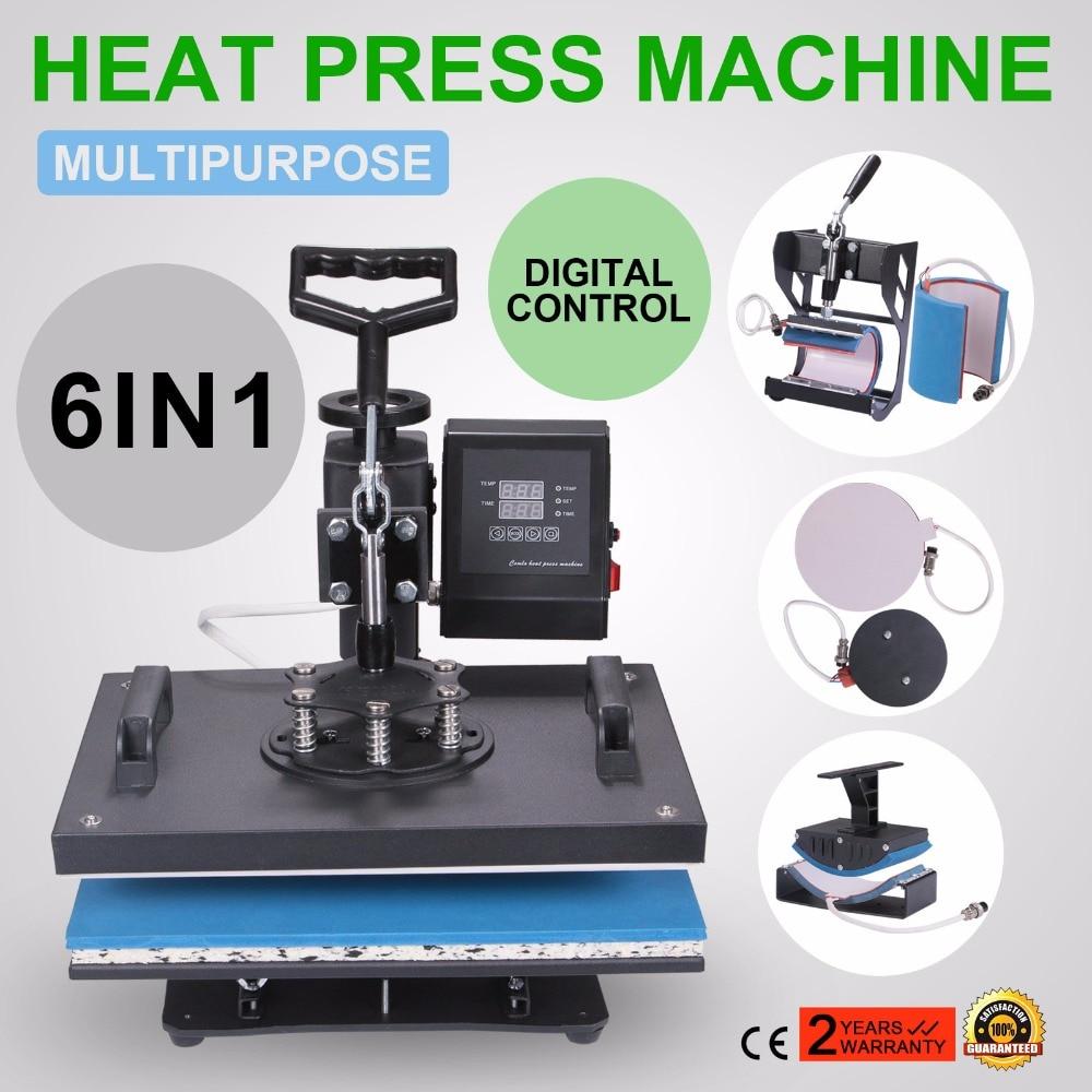 ONS Gratis Belasting 6 In 1 Warmte Persmachine Digitale Overdracht Sublimatie T shirt Mok Hoed Phonecase - 2