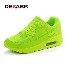 Dekabr marca más nuevo del otoño del resorte zapatos corrientes para las mujeres cómodas zapatillas de deporte de los hombres zapatos respirables del deporte al aire libre tamaño 35-44