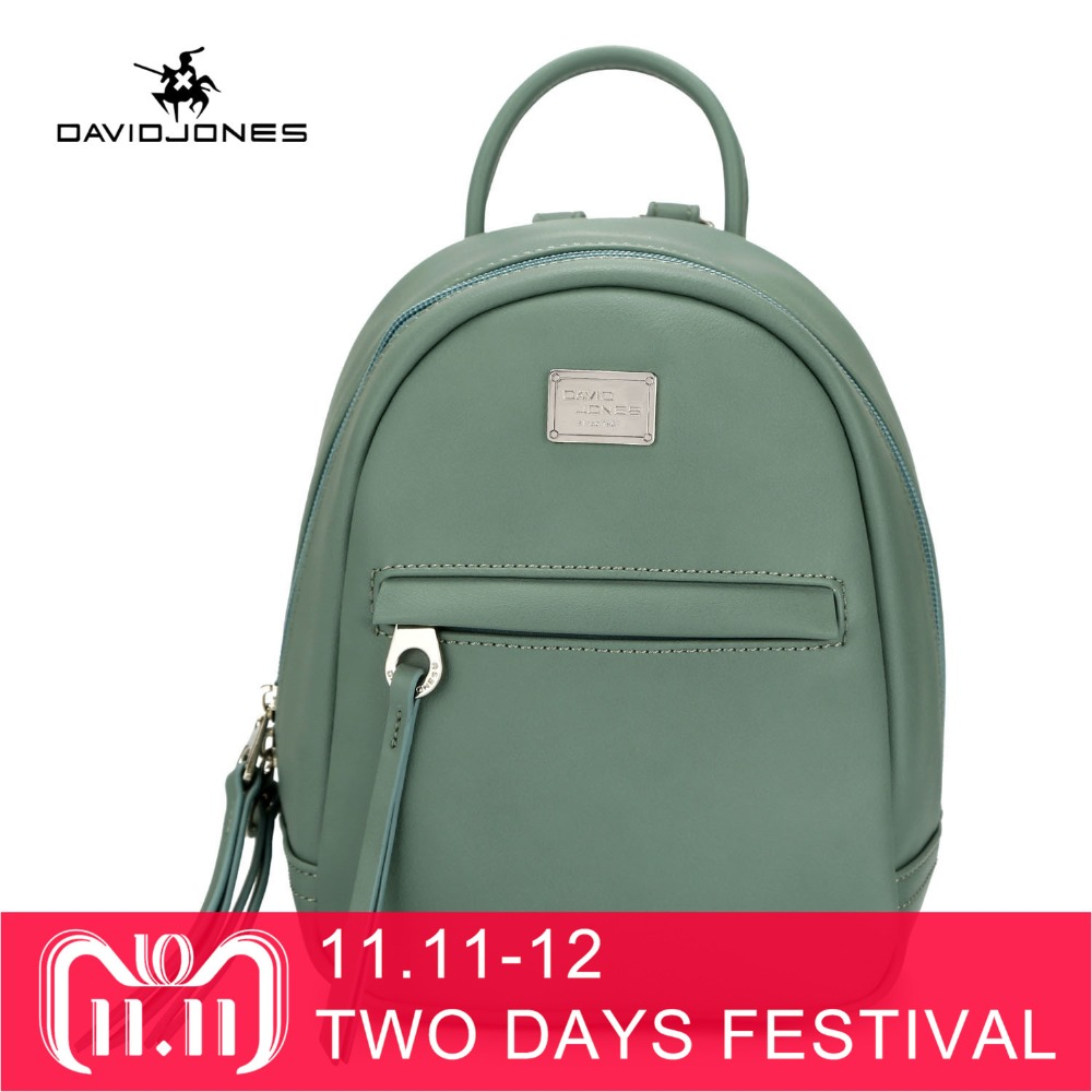 DAVIDJONES women shoulder bags faux leather female backpacks small lady travel school bag girl brand softpack drop shipping цена
