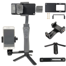 for GoPro 7 6 5 4 3+  SJCAM Adapter/phone Clip/Mini Tripod/Bracket for Zhiyun Smooth Q 3 DJI Osmo Mobile 2 Feiyu G5 Gimbal Mount aluminum switch mount plate adapter for gopro hero 6 5 4 xiaoyi sjcam action camera for zhiyun smooth q feiyu vimble 2 dji osmo