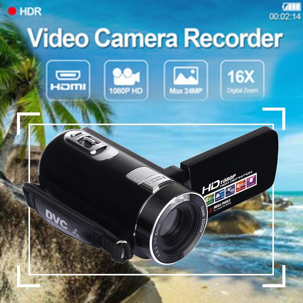 3 pouces TFT LCD HD 1080 P 24MP 18X Zoom numérique caméscope vidéo DV caméra 20A livraison directe