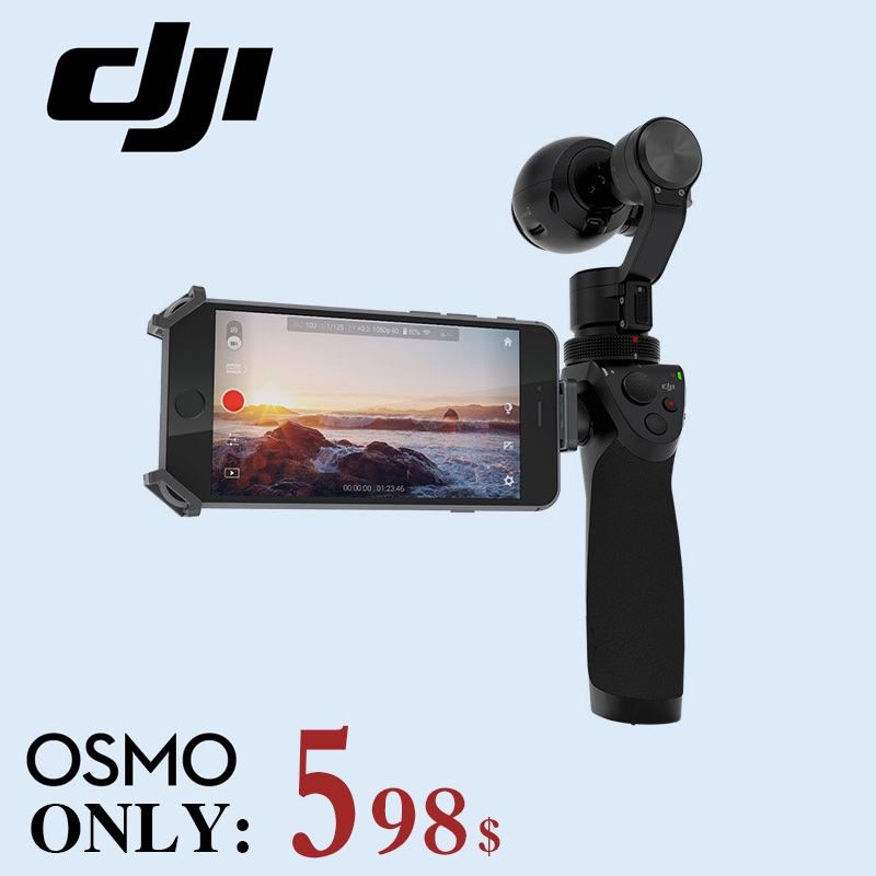 Free shipping ! DJI OSMO Handheld 4K Camera and Stabilizer Original 3-Axis Gimbal phantom 3 Newly Releasing Hot product