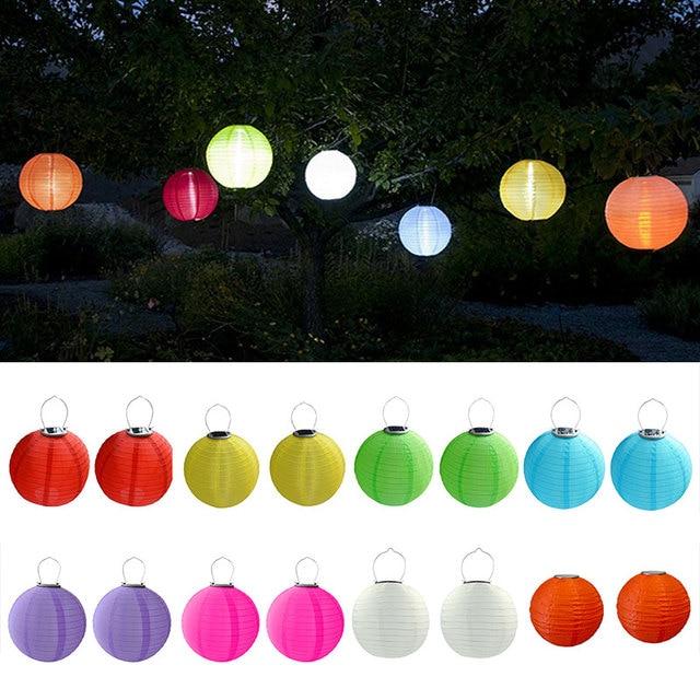 2pcs Lot 30cm Solar Ed 5050 Smd Led Light Bulbs Waterproof Chinese Lantern For Wedding Party Garden M25