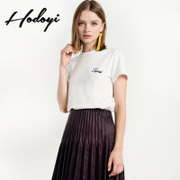 Hodoyi2017 New Summer Fashion Women S Fashion Institute Of Wind Embroidered T Shirt Short Sleeve T