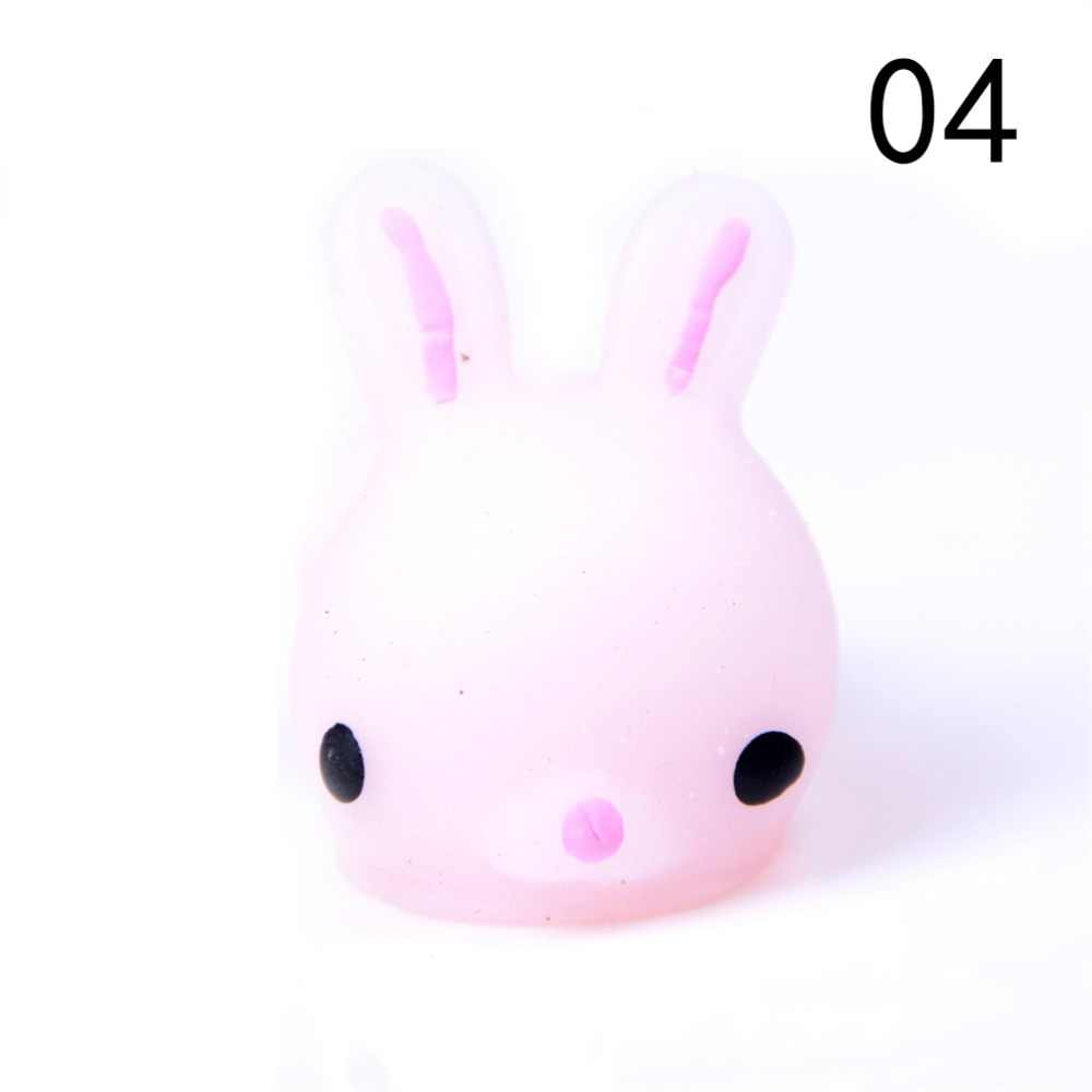Cute Mini Soft Silicone Squishy Fidget anti-stress Hand Squeeze Pinch Toy Phone straps Accessories Cat//Sea Lion/pig Slow Rising