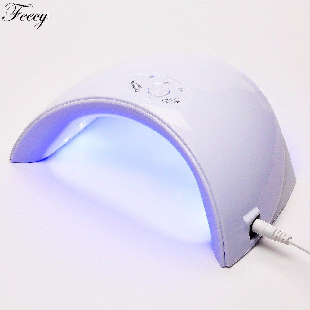 36 w Ha Condotto La Lampada UV 12 pz Essiccatore Del Chiodo Del LED per la Nail Gel Polish Manicure Con Il tasto Timer Sensore Unghie artistiche strumenti di Ricarica USB
