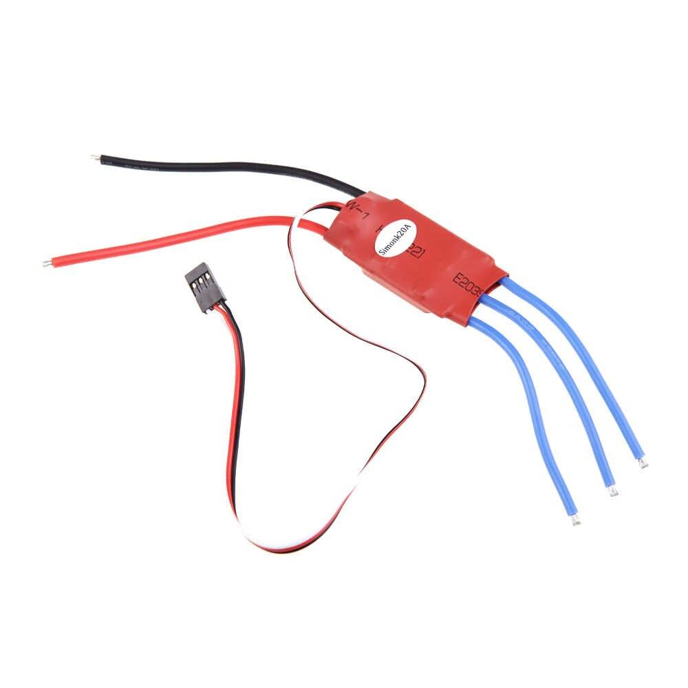 4 قطع simonk الثابتة 20AMP 20a فرش esc تيرو w3A 5 فولت ل f450 تريكس 250 rc جزء الإلكترونية qudcopter multicopter استطلاع