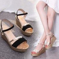 Summer Muffin Fish Head Women Sandals Platform Sandals Simple Shoes Shook