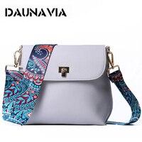 DAUNAVIA 2017 Hot Sale Women PU Leather Mini Shoulder Bags Simple Flap Sling Crossbody Messenger Bags