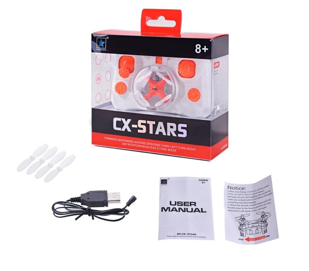 Cheerson CX-STARS World's Smallest Drone 2.4Ghz 4CH 6-axis Mini RC Drones Quadcopter RTF