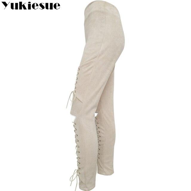 Lace Up Bodycon Pencil Pants 8