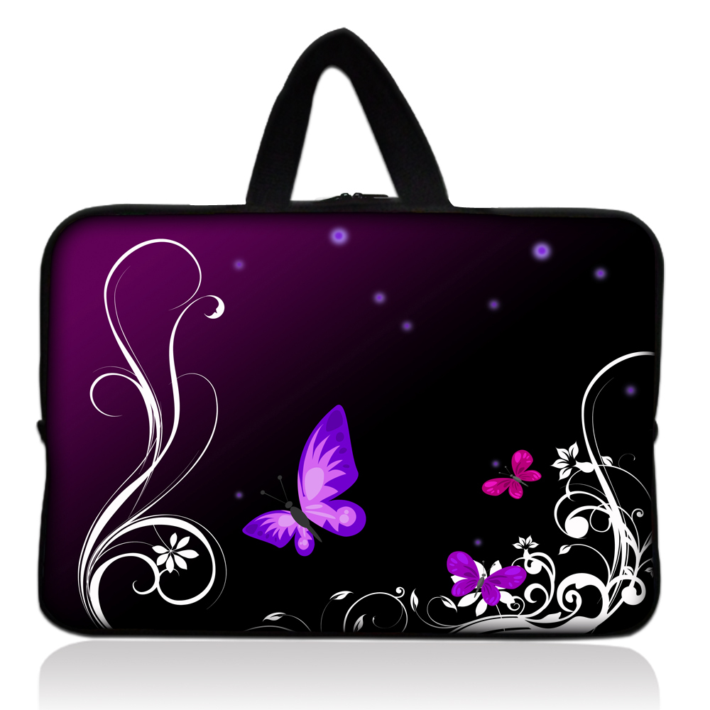 Purple Butterfly Hot Design Sleeve Case Bag Cover +Handle For 7 inch Barnes & Noble NOOK ...