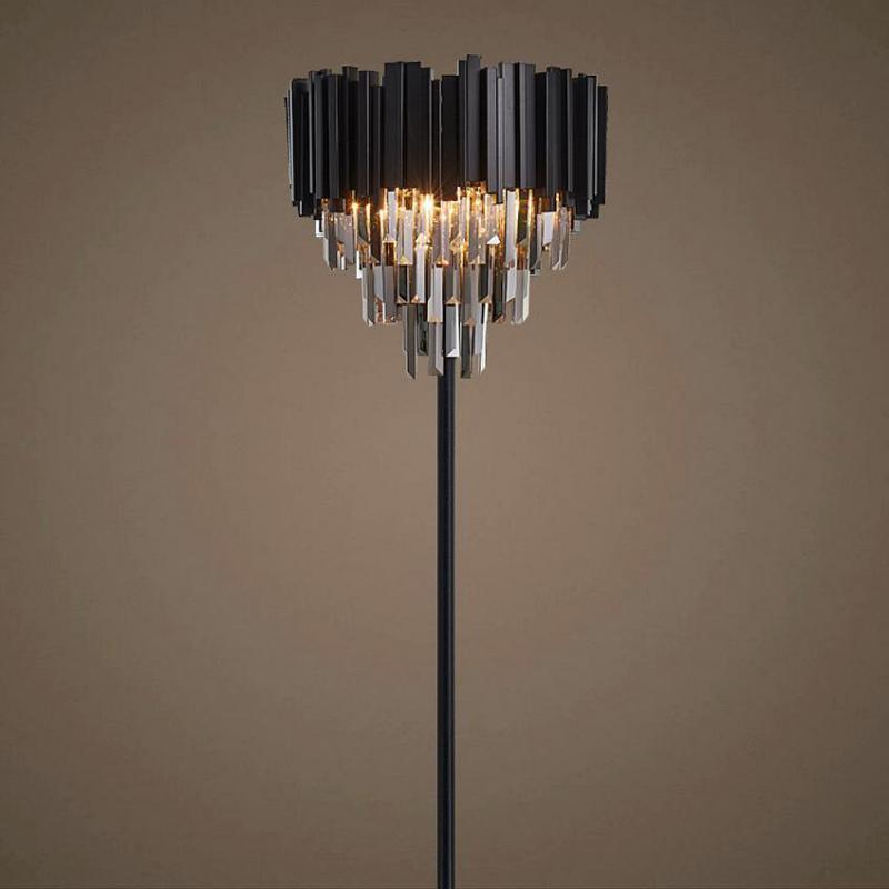 Black Wedding Floor Light Hotel Lobby Large Crystal