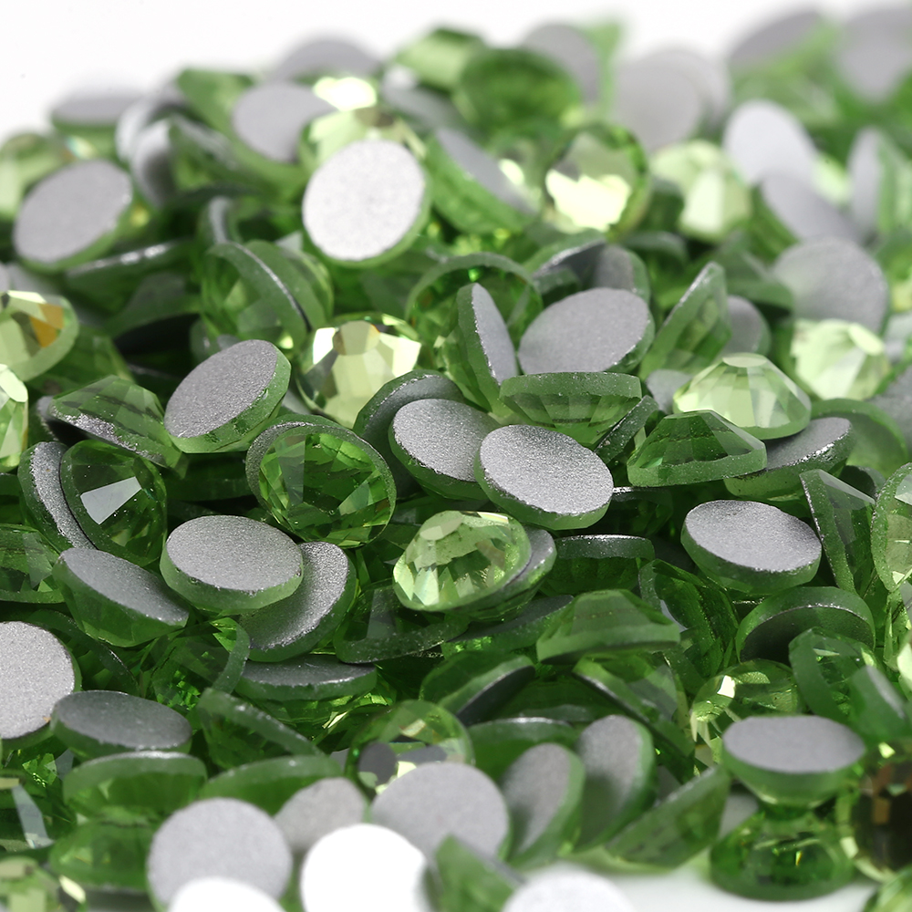 1440pcs/bag Smallest ss2(1.2mm) Peridot Color Crystal Flat Back ( Nail Art ) Non Hot Fix Glue on Glass Rhinestones