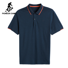 Pioneer camp new short sleeve men polo shirt brand clothing botton 100% cotton polos men breathable polo male ADP801158