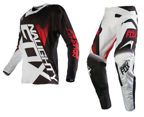 купить 2017 NAUGHTY Fox MX 360 Racing Combo Jersey Pants SHIV Motocross Motorbike Dirt Bike Off-road Cycling Racing Gear Set недорого