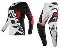 2017 NAUGHTY Fox MX 360 Racing Combo Jersey Pants SHIV Motocross Motorbike Dirt Bike Off road Cycling Racing Gear Set