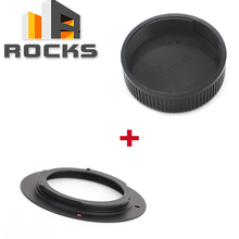 Pixco for M42 Nik set 매크로 m42 마운트 렌즈 nikon (d) slr 카메라 어댑터 + m42 42mm 나사 렌즈 후면 덮개 캡
