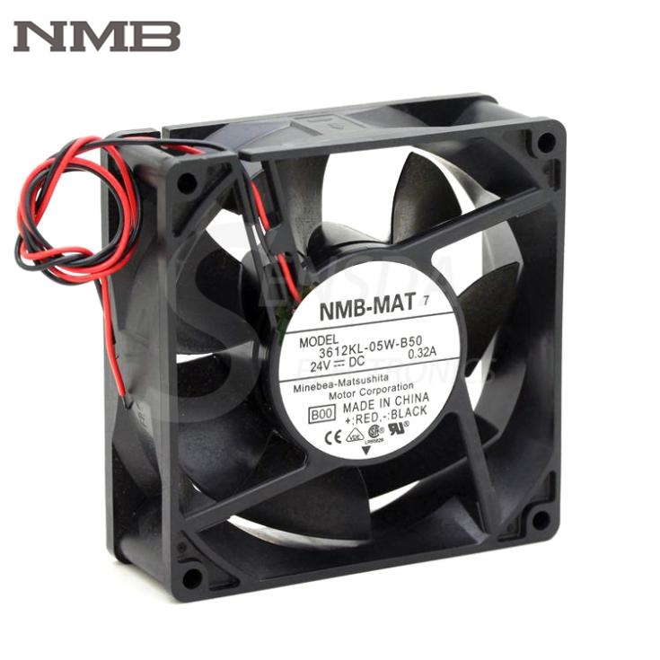 Original NMB 3612KL-05W-B50 9032 9CM 90mm DC 24V 0.32A server inverter axial cooling fan cooler genuine spare parts abb acs800 90 90 38mm 24v 0 32a 2 line waterproof fan pq1 3615 kl 05w b50