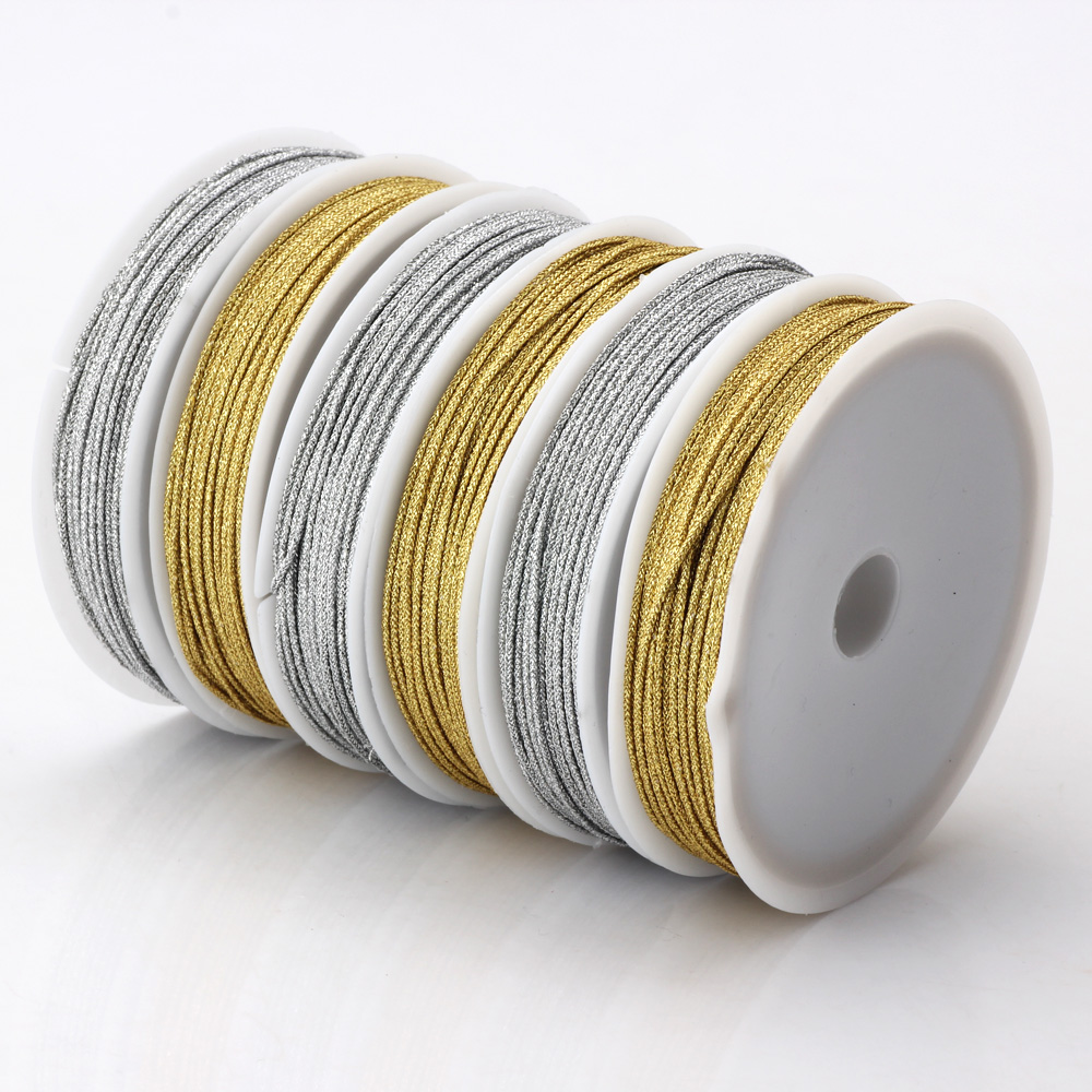 OlingArt 20M set 0 8mm Gold silver thread color line Chinese Knot String Handmade jewelry Beaded DIY Bracelets Making new in Jewelry Findings Components from Jewelry Accessories
