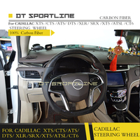 For CADILLAC XT5 ATS L XTS CTS SLS Carbon Fiber Leather Steering Wheel Trims Universal Replacement steering wheel