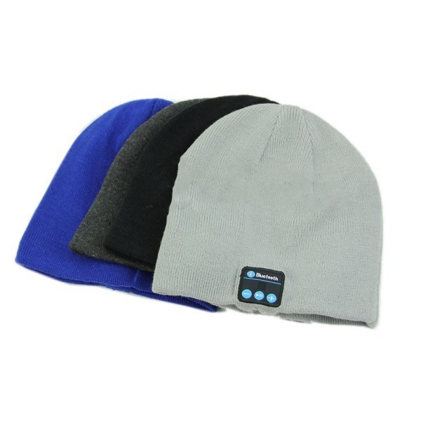 2017 Nuevo Soft Warm Beanie Hat Cap Auriculares Auriculares Micrófono Altavoz Bluetooth Inalámbrico Inteligente Bluetooth Sombrero