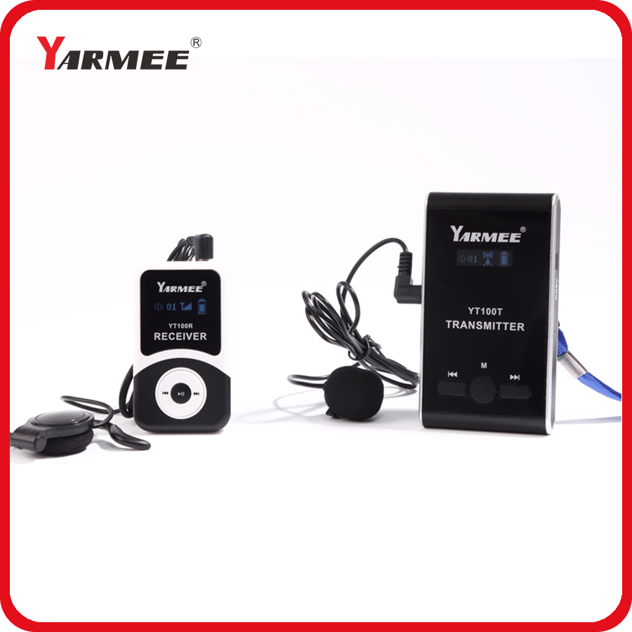 Professional Wireless Tour Guide System YARMEE YT100 Used For Tour Guiding Church Teaching & Museum 1 Receiver 1 Transmitter