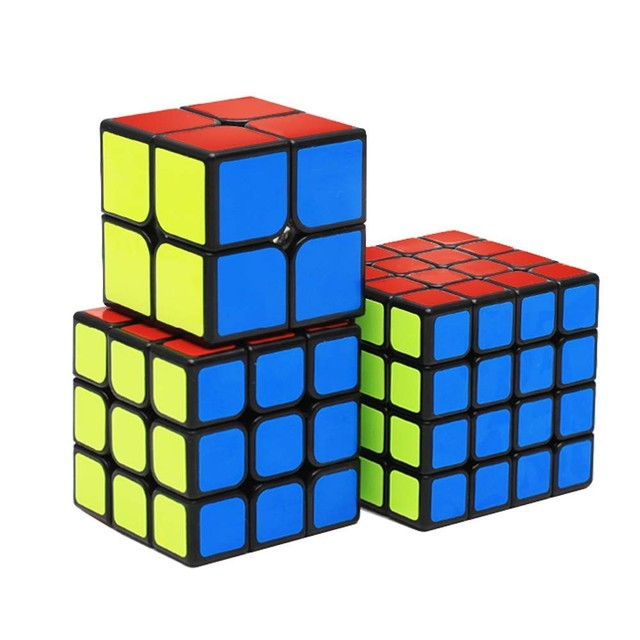 ZCUBE Bundle 8PCS/Set Gift Pack Qiyi XMD Magic Cube Set 2x2x2 3x3x3 4x4x4 Mirror Speed Cube Puzzle Educational Toys For Children 3