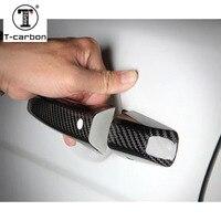 Carbon Fiber Auto Door Handle Knob Exterior Trim Covers for Land rover Discovery Freelander Range Rover Evoque Range Rover Sport