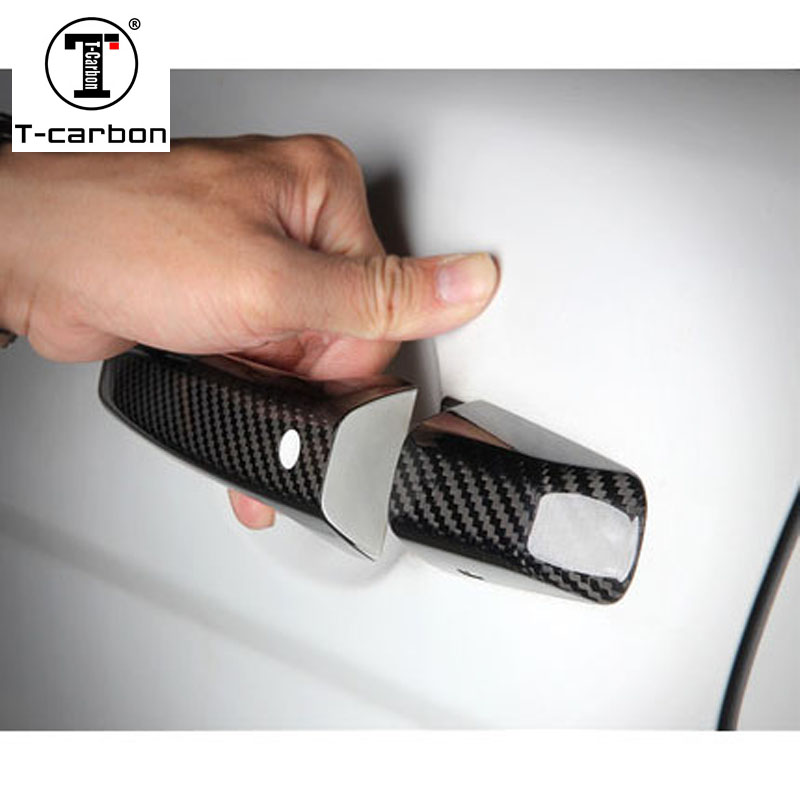 Carbon Fiber Auto Door Handle Knob Exterior Trim Covers for Land rover Discovery Freelander Range Rover Evoque Range Rover Sport 50x for land rover discovery 3 4 range rover sport door moulding wheel arch clips