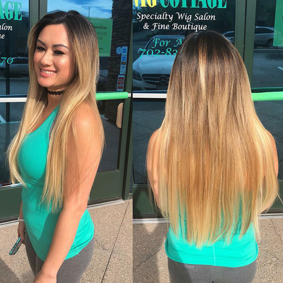 Ombre Blonde Bundles With 13x4 Closures Beauty Plus Nonremy 2 Tone 27 Bleach Blonde Straight Human Hair Bundles With Frontals