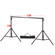 DHL Or EMS 2X 2M(6.5ft*6.5ft) Photo Background Support System Stands Adjustable Backdrop Photograpy backgrounds for photo studio
