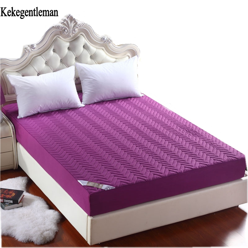 Kekegentleman cotton mattress protective cover cotton padded non-slip bedspread twin ful ...