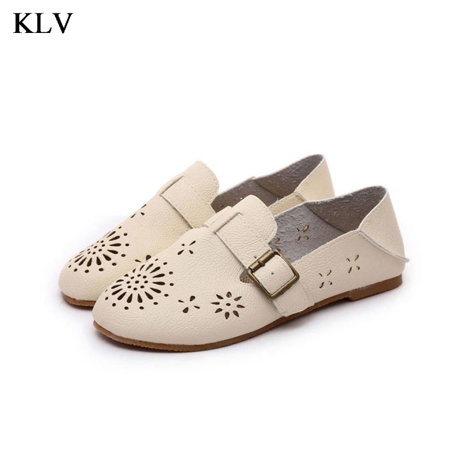 Spring And Autumn Loafers Women's Flat Shoes Woman Personality Handmade Shoes PU Leather Soft Outsole Shoes Women Flats Jan6 flat shoes women pu leather women s loafers 2016 spring summer new ladies shoes flats womens mocassin plus size jan6