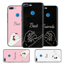 Black Bag Soft Silicone Case Cover for Huawei honor 8X 8C 8A 10 20 Y6 Y9 2019 Lite Play Enjoy 9S 9E 20i Phone Fall best sisters(China)
