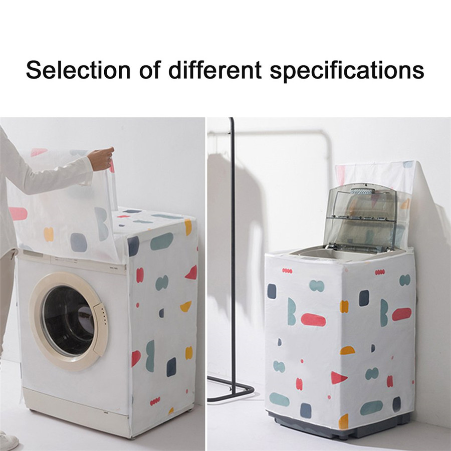 3 Patterns Floral Geometry Printing  Washer Cover Sunscreen Cover Dryer Bathroom Washing Machine Waterproof Dust-proof3 Patterns Floral Geometry Printing  Washer Cover Sunscreen Cover Dryer Bathroom Washing Machine Waterproof Dust-proof