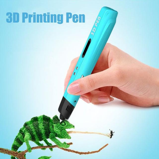 Centechia 5 V 2 A Magic 3d printer pen Drawing 3D Pen LED screen doodle 3D Printing 3d pens Gift for Kids Birthday Present