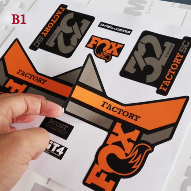 FOX FACTORY 32 36 Mountain bike front fork sticker decals for 26er 27.5er 29er MTB DH Race dirt bicycle forks film free shippingFOX FACTORY 32 36 Mountain bike front fork sticker decals for 26er 27.5er 29er MTB DH Race dirt bicycle forks film free shipping