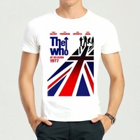 Adult Fashion Cotton Band The Who T Shirt Summer Short Sleeve Gray The Who Top Tees