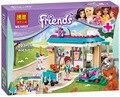 Bela 10537 bloques huecos de diy ladrillos clínica veterinaria figura juguetes educativos compatible amigos para chica con legoe