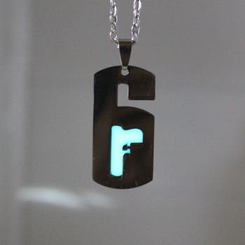 Glowing necklace Punk Rainbow Six Siege Pendants Necklaces GLOW in the DARK amulet gift