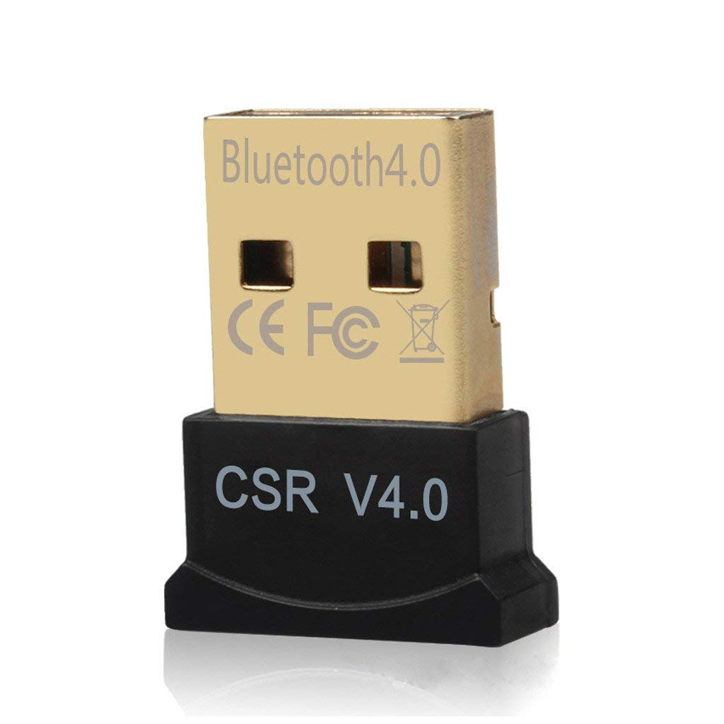 Wireless Mini USB Bluetooth CSR 4.0 Dual Mode Adapter Dongle For Windows 10 8 7 Vista XP 32/64 Bit Raspberry Pi Linux Black