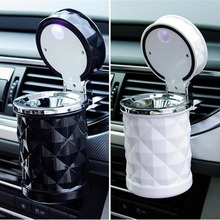 Car Ashtray Smokeless Auto Cigarette Ash Holder with Blue LED Light for Car Cup Holder LED Cigarette Smoke car Ashtray