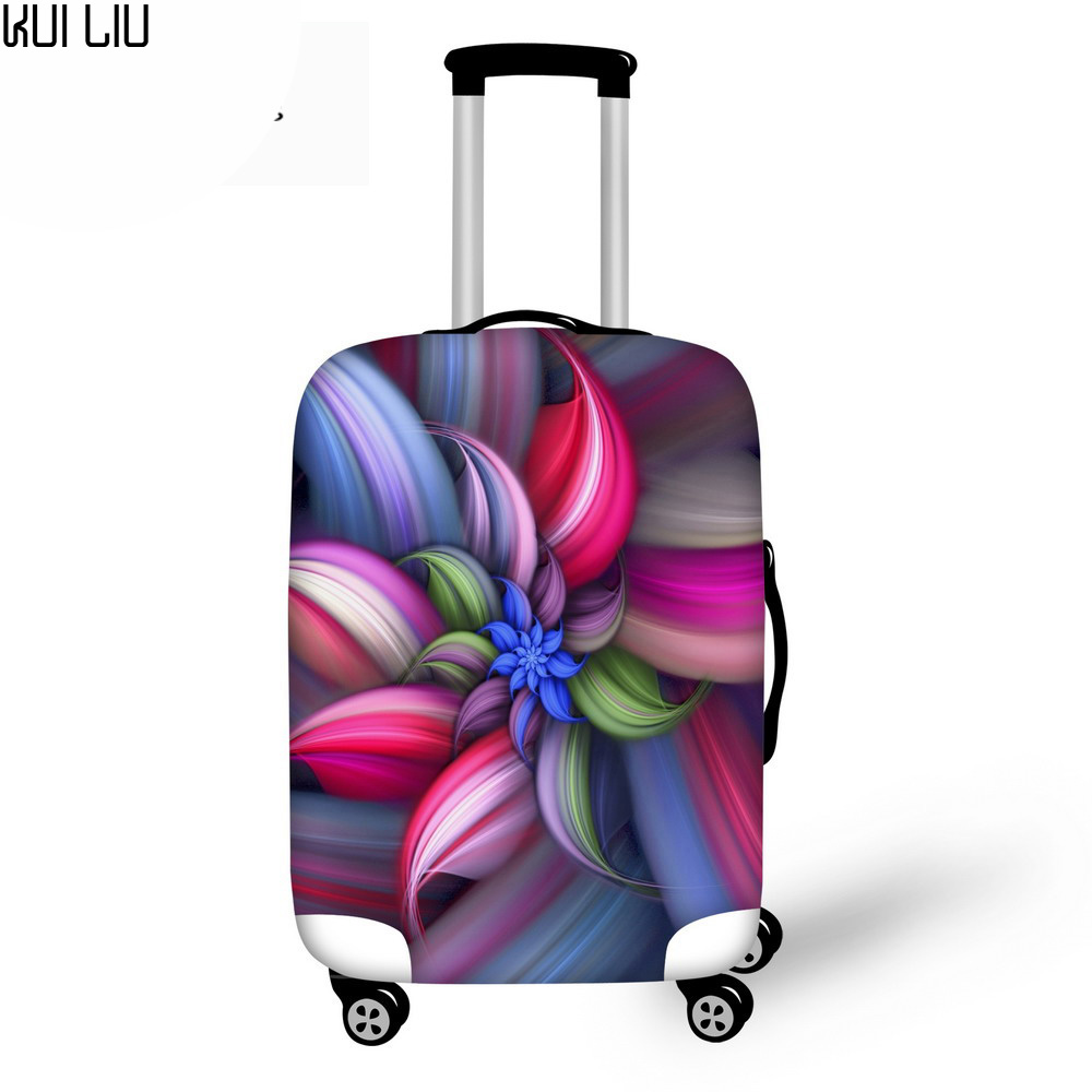 Customized Image Luggage Protective Case Beautiful Flower Waterproof Cover 30 Inch Trolley Suitcase Elastic Travel Rain Covers