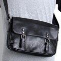British style street package packet PU cortex men Shoulder Messenger casual Black Retro messenger bag